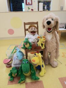 all the puppets at preschool
